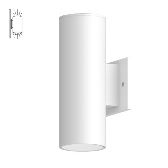 Alcon Lighting 11239-W Cilindro IV Architectural LED Large Modern Cylinder Wall Mount Direct/Indirect Light Fixture