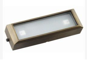 Die Cast Brass LV LED 9 Inch Long Surface Mounted Step Light