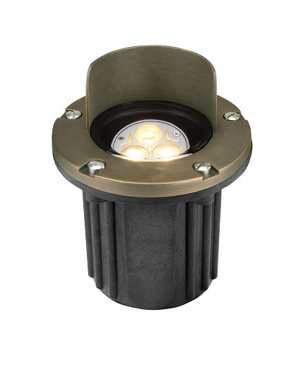 Alcon Lighting 9027 Riley Architectural Landscape LED Low Voltage Cast Brass In Ground Well Light