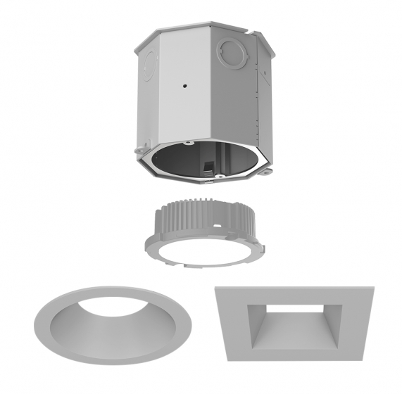 Image 1 of Alcon 14105-4-DIR 4-Inch Recessed Concrete Ceiling LED Light
