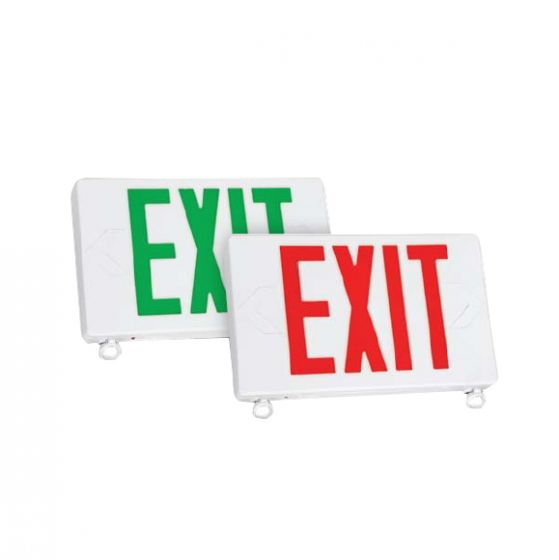 Image 1 of TCP 2068 Exit/Emergency Sign Combo with LED Heads for Damp Location