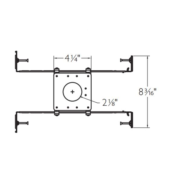 Image 1 of Lightolier C2LMP New Construction Mounting Pan for Calculite 1.75 Inch Fixtures