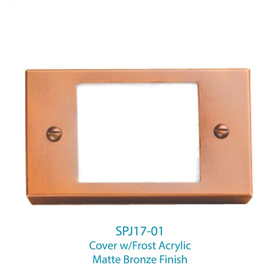 Image 1 of SPJ Lighting Forever Bright SPJ17-01 LED Recessed Step Light Cover - Frost Acrylic