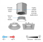 Image 2 of Alcon 14105-4-DIR 4-Inch Recessed Concrete Ceiling LED Light