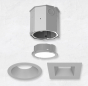 Image 1 of Alcon 14105-4-DIR 4-Inch Recessed LED Concrete Ceiling Light