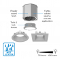 Image 2 of Alcon 14105-4-DIR 4-Inch Recessed LED Concrete Ceiling Light
