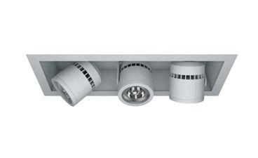 Image 1 of Cylindrix® III Mini C3MSR-3 3LT Triple LED Recessed Lighting Multiple - 3 Light + Housing + Trim