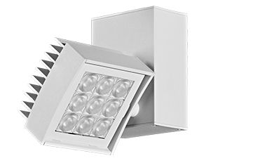 Image 1 of Amerlux CNTRV33 Contour 3x3 Vertical LED Track Light Fixture 17 Watt