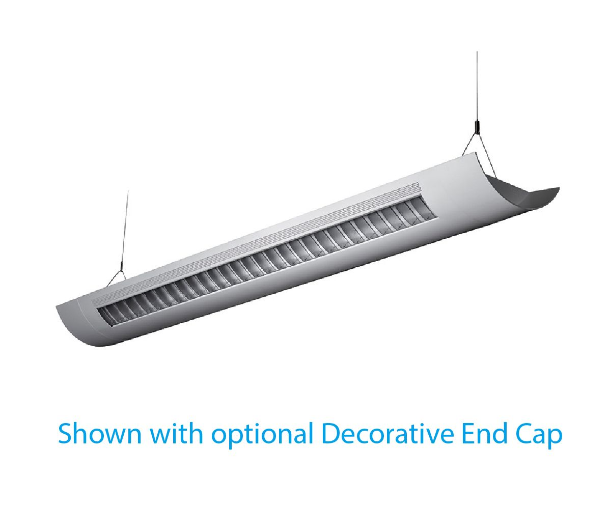 Alcon lighting catalina 10106 8 8 foot t8 and t5ho fluorescent architectural linear suspended light fixture uplight direct and downlight indirect