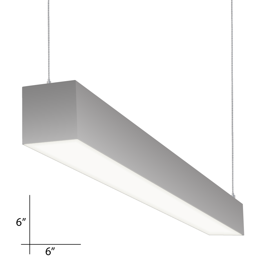 Alcon Lighting 12100 P 66 4 Continuum Series Architectural Led Foot Linear Pendant Mount Direct Indirect Light Fixture