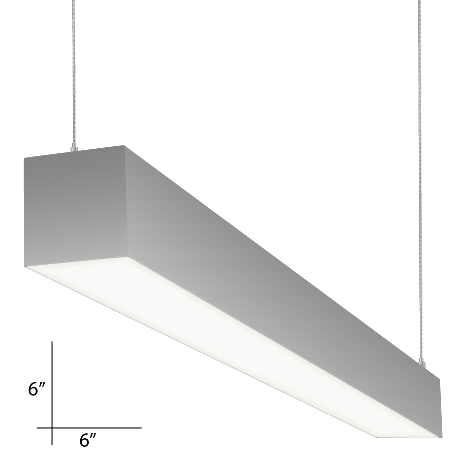 Alcon Lighting 12100 P 66 8 Continuum Series Architectural Led Foot Linear Pendant Mount Direct Indirect Light Fixture