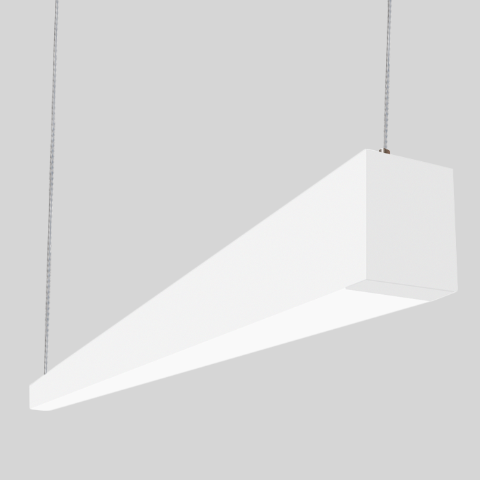 Alcon Lighting 22145 8 Beam 253 Series Foot Linear Suspension Led Pendant Architectural 4000k 4200 Lumen Non Dimmable