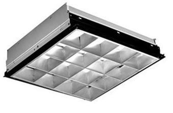 Alcon Lighting 14015-22 Parabolic Architectural LED Troffer Light Fixture -  2x2