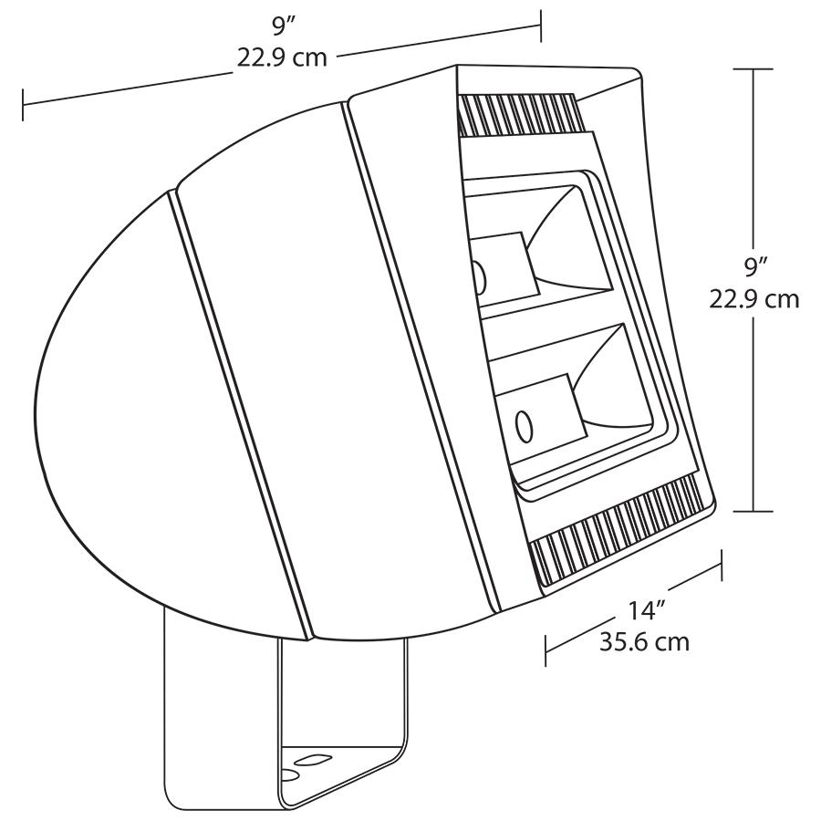 Rab Outdoor Flood Light Sensor Wiring Diagram Schematic Diagrams Rope Fxled150 150 Watt Led Alconlighting Com