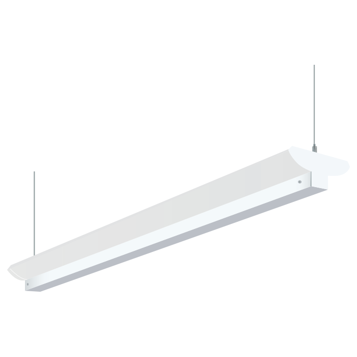 H.E. Williams 79B-8 Industrial Indirect Fluorescent Suspended Light ...
