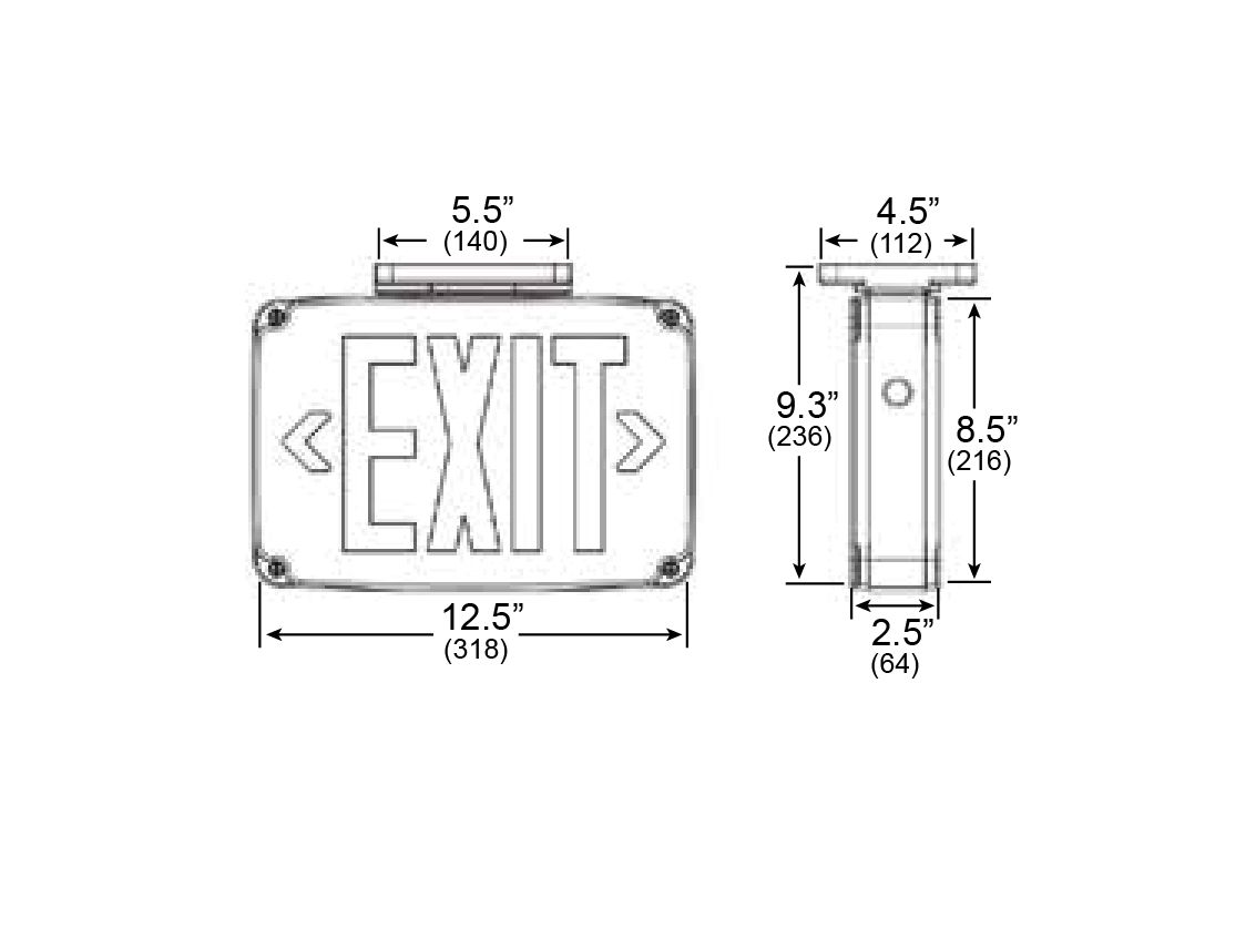 Alcon Lighting 902 Compact Wet Location Led Exit Sign Wiring Diagram 120v 277v