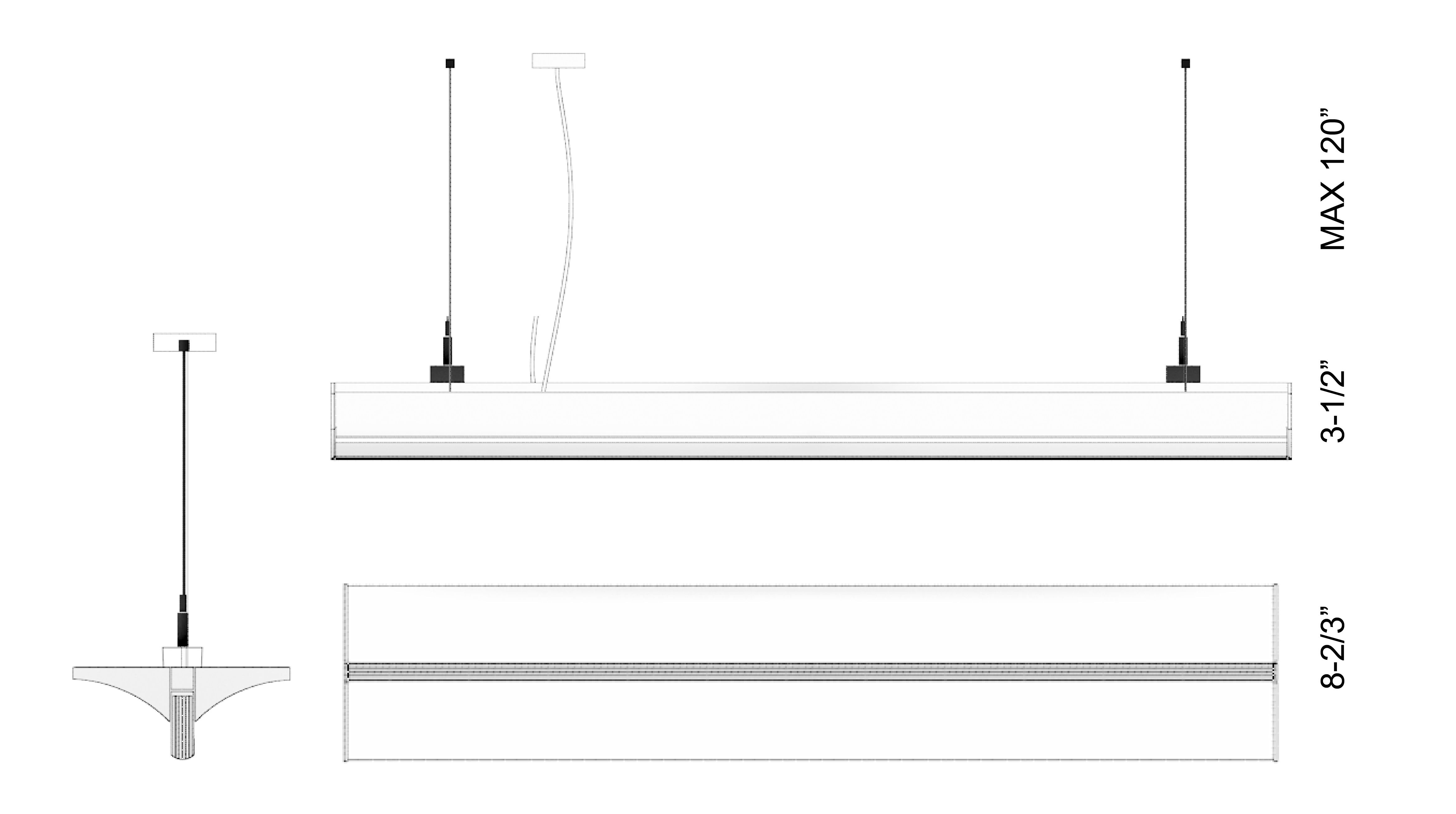 Alcon Lighting 12126 Tee Beam Architectural Led Linear Suspended Wiring Diagram 120 Volt Light Fixture Pendant Mount Indirect Up