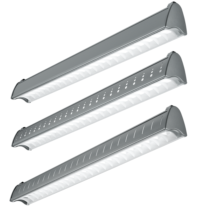 H E Williams Axa 4 L Architectural Contoured Louver Led Suspended Light Fixture Ft