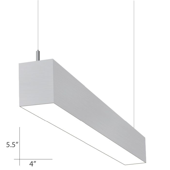 Alcon Lighting 12108 P 8 Continuum 45 Series Architectural Led Foot Linear Direct Indirect Light Fixture