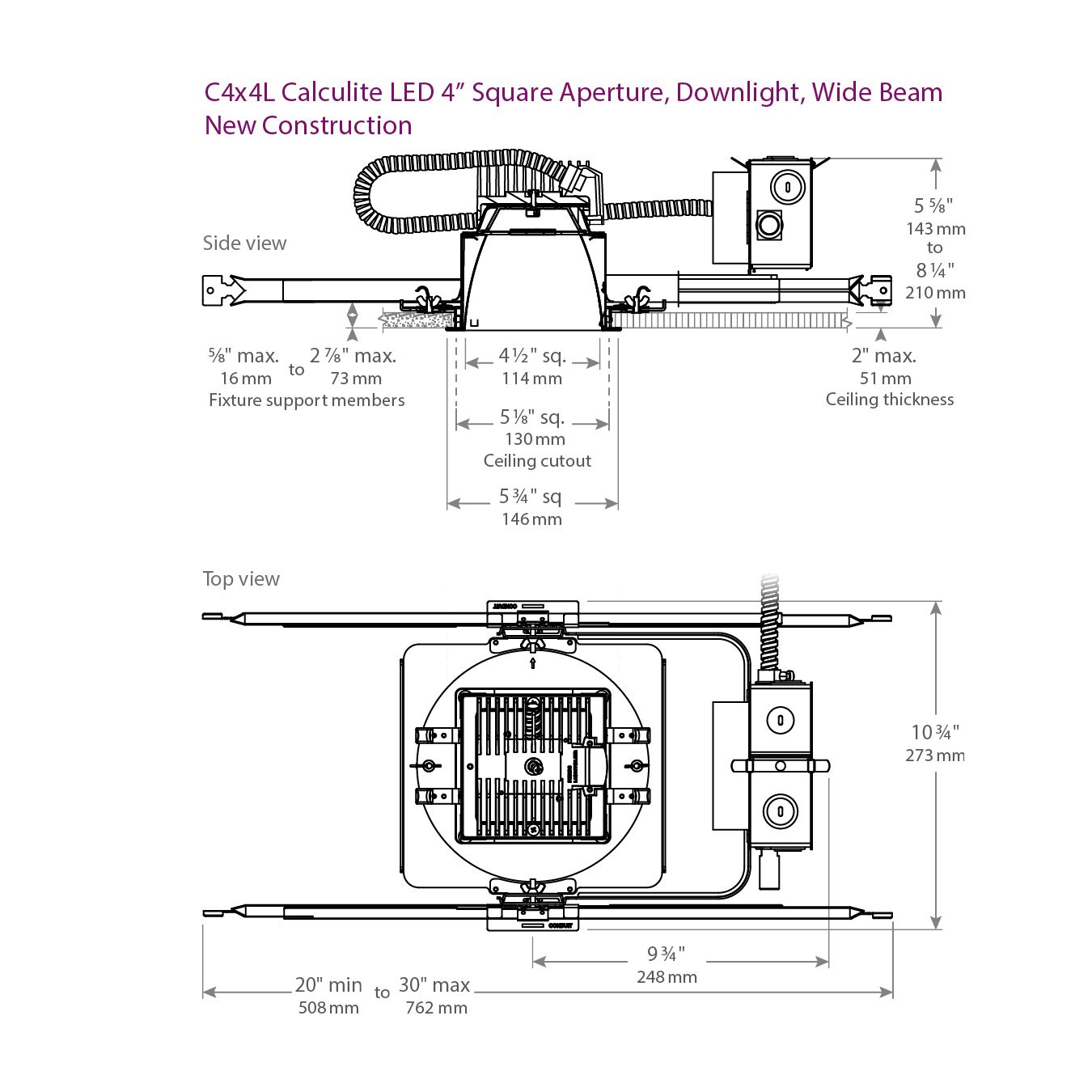 Lightolier 0 10v Dimming Schematic Icon Wire Diagrams New Construction Wiring Diagram Philips C4x4l05 Calculite Led 500 Lumen 4 1 2 Inch X 3