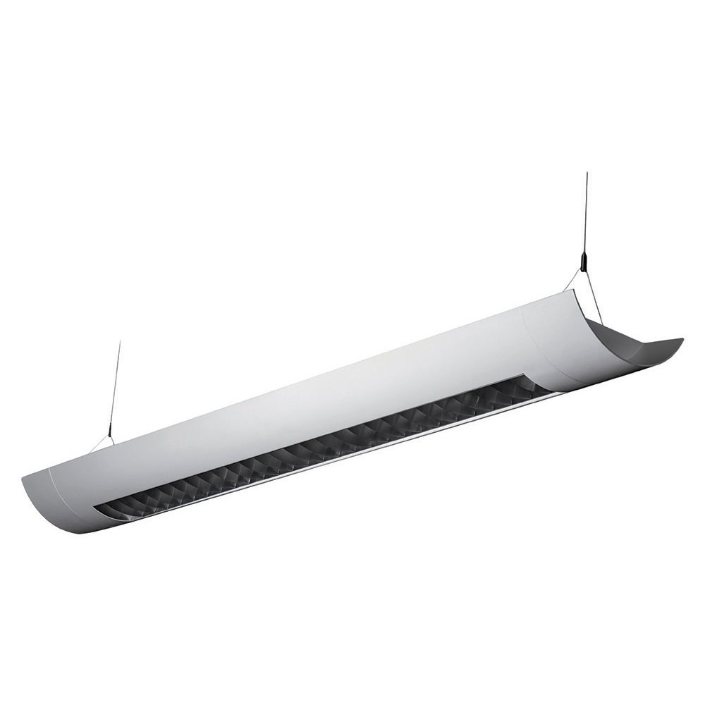 Alcon lighting casablanca 10105 8 8 foot t8 and t5 2 lamp fluorescent architectural linear suspended light fixture uplight direct and downlight