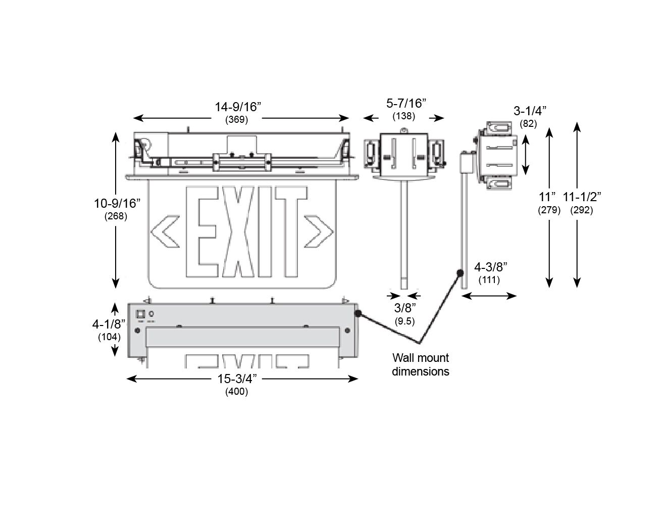 Alcon Lighting Edge Lit 901 Recessed Led Exit Signs Sign Wiring Diagram 120v 277v