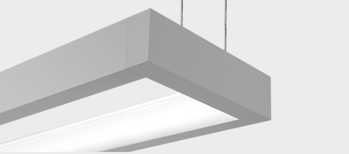 Focal Point FNRS Nera Architectural Linear Suspended LED Office Ceiling  Light Fixture