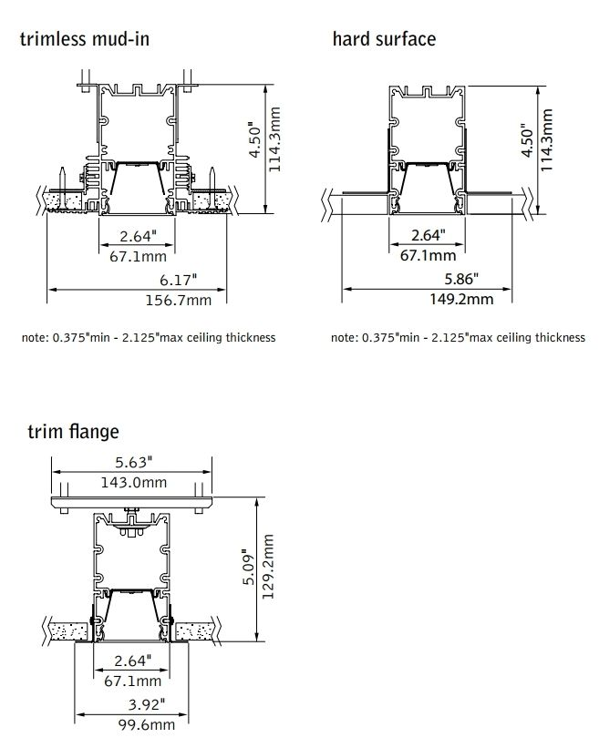 focal point lighting fsm2lwl seem 2 led wet listed linear recessed