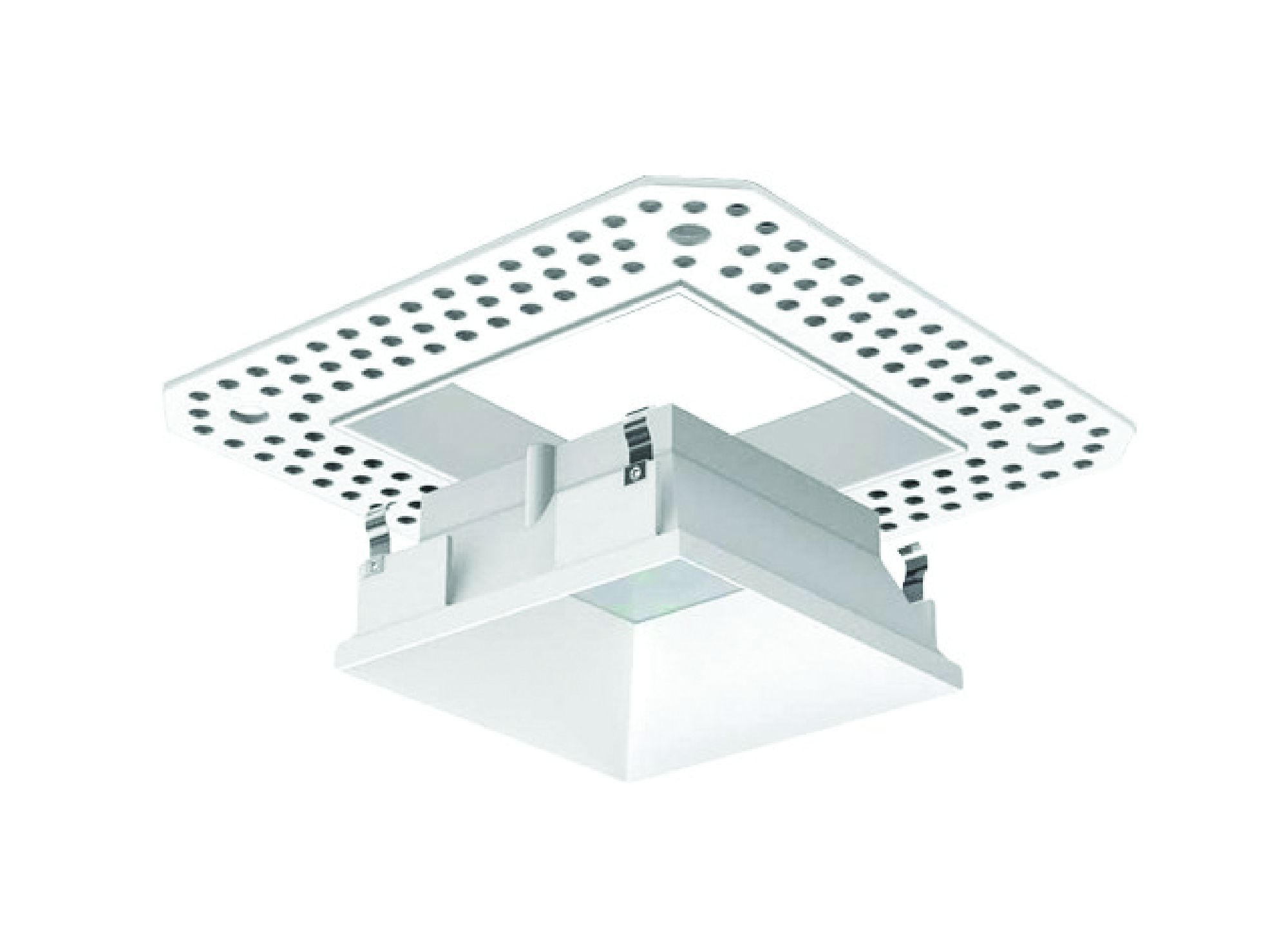 3 inch architectural led square trimless recessed down light fixture double tap to zoom