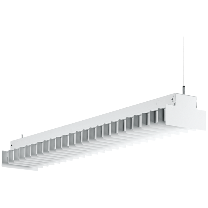 H.E. Williams ST-WB-8 Wrapped Baffle Fluorescent Suspended Light ...