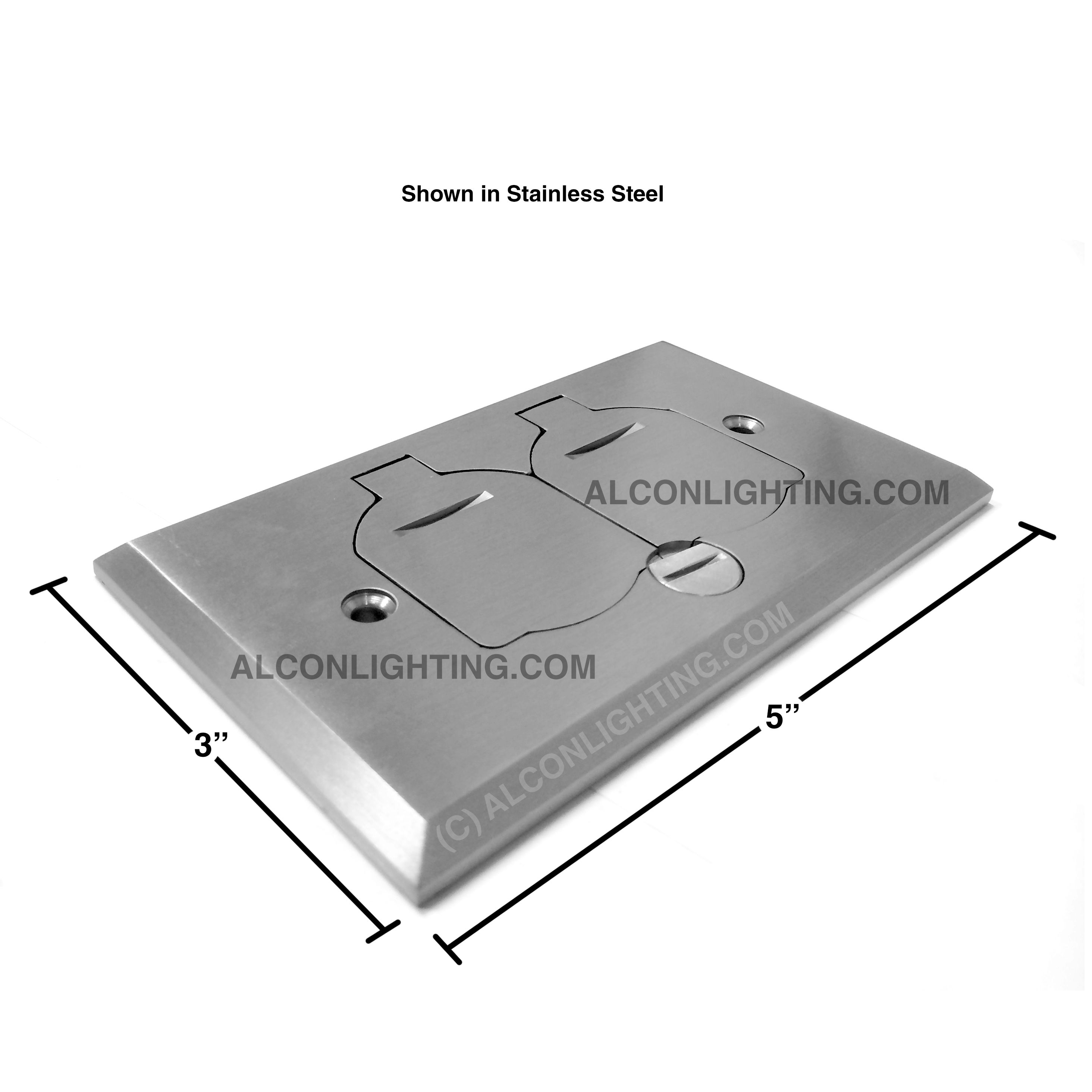 Orbit FLB-D-C Tamper Resistant Flip Type Electrical Floor Box with ...
