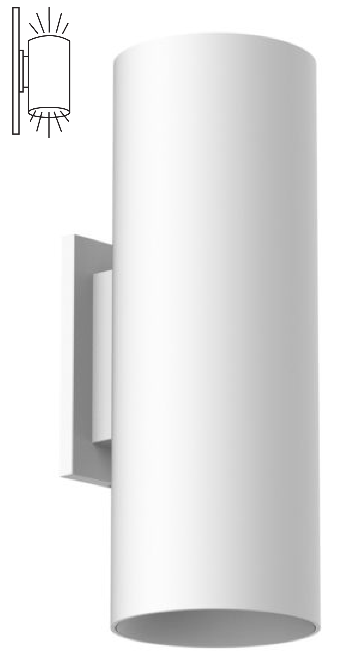 Indirect wall lighting Diy Ceiling Alcon Lighting 11239w Cilindro Iii Architectural Led Large Modern