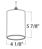 Alcon Lighting 12173 Beleza Architectural LED Metallic Cylinder Pendant Mount Direct Down Light Fixture