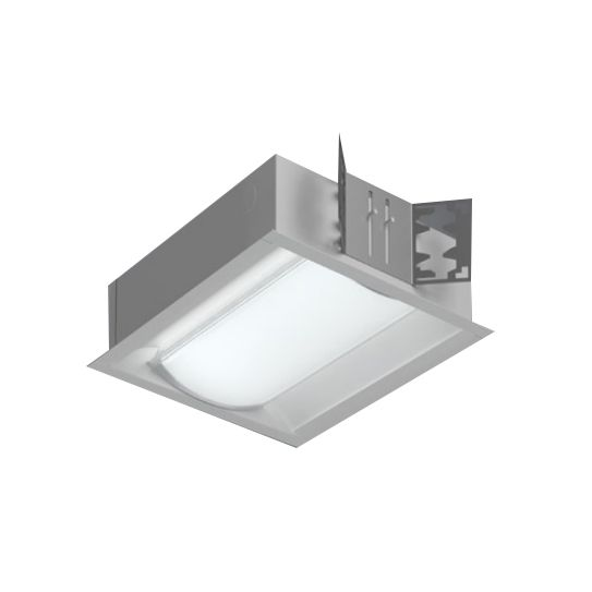Image 1 of Cooper R Mini Nano Rectangular Perforated Inlay Recessed LED Light Fixture
