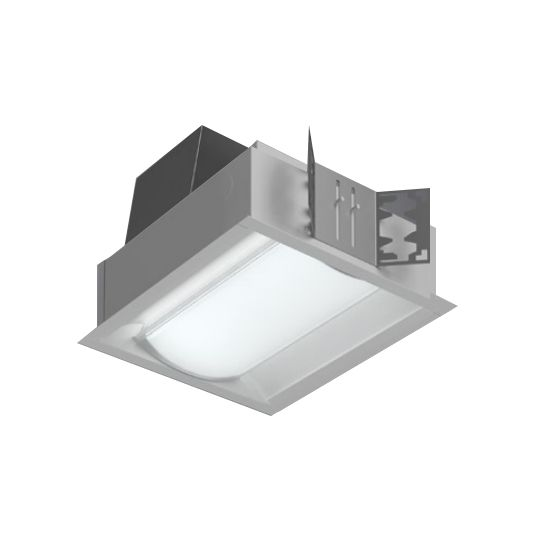 Image 1 of Cooper R Mini Frosted Prismatic Lens Recessed Fluorescent Light Fixture