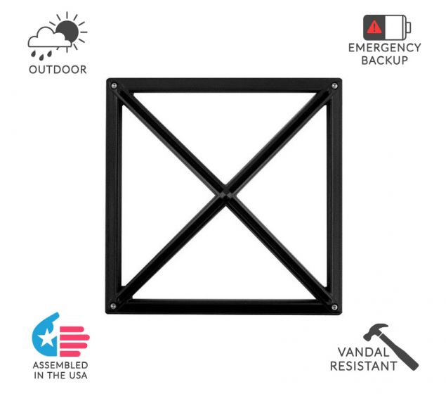 Image 1 of Alcon Lighting 11231-SP Optic 10 Inch Square Pyramid Face Guard Architectural LED Wallpack Outdoor Vandal Proof Luminaire