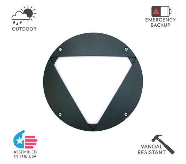 Alcon Lighting 11231-V Optic 10 Inch Round Vangaurd Face Guard Architectural LED Wallpack Outdoor Vandal Proof Luminaire
