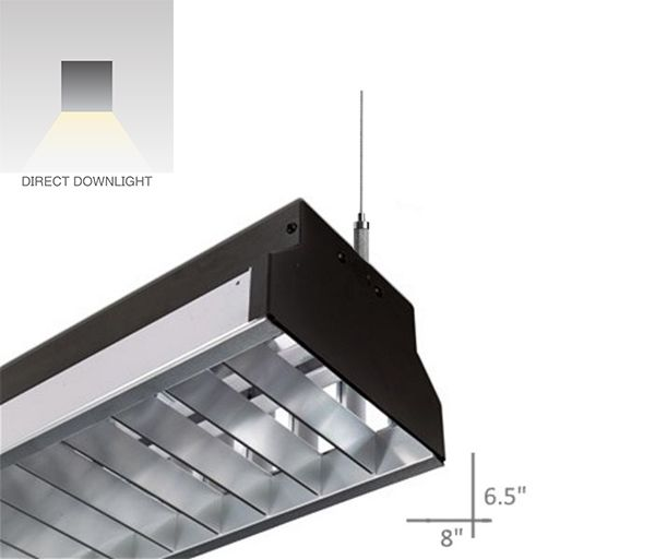Alcon Lighting 12103 Argyle Series Architectural LED Suspended Pendant Mount Commercial Direct Light Strip Fixture