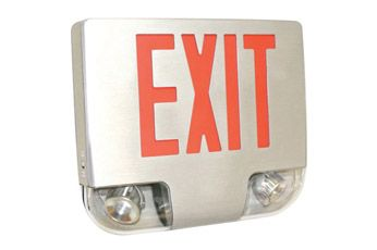 Alcon Lighting 904 Combination LED Exit and Emergency Spot Light