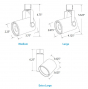 Image 4 of Alcon 13340 Architectural LED Single Swivel Cylinder Track Head