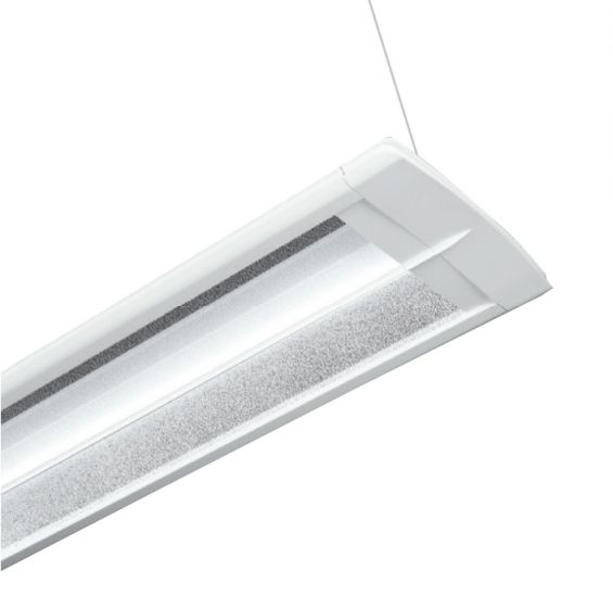 Cooper Lighting Corelite Wavestream Divide Suspended Mount LED Light Fixture - Office Lighting Applications