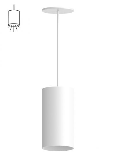 Alcon Lighting 12305-P Cilindro II Architectural LED Medium Modern Cylinder Pendant Mount Direct Light Fixture