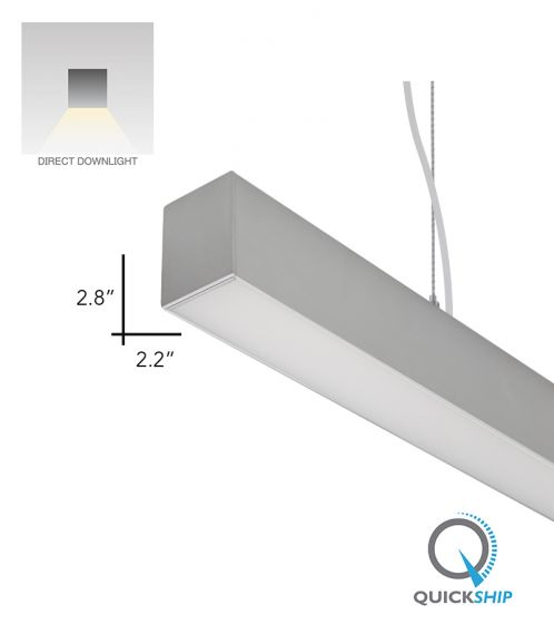 Alcon Lighting 12100-22-P-4 Continuum 22 Series Architectural LED Linear Pendant Direct Light Fixture - 4 Foot