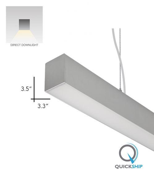 Alcon Lighting 12100-33-P Continuum 33 Architectural LED Linear Pendant Direct Light Fixture