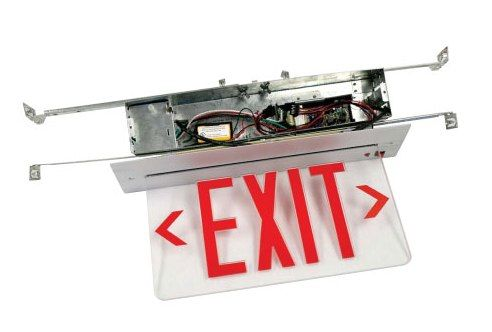 Alcon Lighting Brink Recessed Edge Lit LED Exit Signs