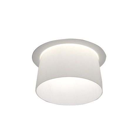 Delray Lighting 4740 6 Inch Semi-Recessed Fluorescent Downlight Glass