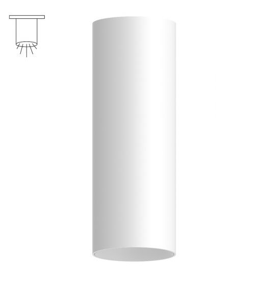 Alcon Lighting 11149-S Cilindro III Architectural LED Large Modern Cylinder Surface Mount Direct Light Fixture