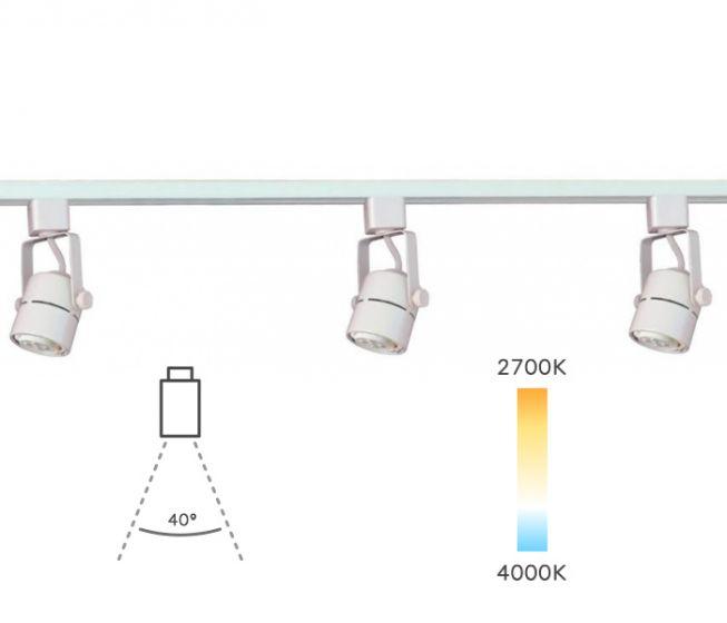 Alcon Lighting 13110-3 Bella Mini Cylinder Adjustable Architectural Led Cylinder Track Light Fixture Kit - 3 Light