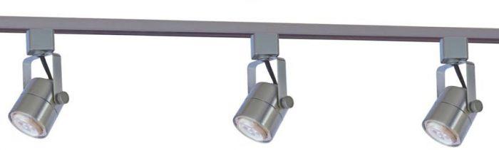 Image 1 of Alcon Lighting 13110-3 Bella Mini Cylinder Adjustable Architectural Led Cylinder Track Light Fixture Kit - 3 Light