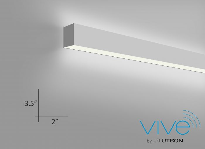 Alcon Lighting 12100-20-W-8 Continuum 20 Architectural Direct and Indirect LED Linear Wall Mount Lighting - 8 Foot